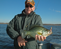 image of Jim Naylor with large Crappie