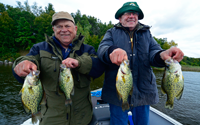 image of Gary and Paul Vitse with pair of good Crappies