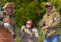 image of Mike, Missy and Joyce with nice Crappies
