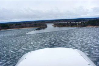 image of ice conditions at Williams Narrows on Cutfoot Sioux