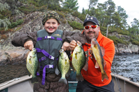 image of Crappie fishing on Rainy Lake