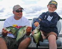 image of Tom and Daxx Batuik with nice Crappies