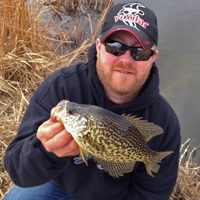 image of Ray Welle holding springtime Crappie