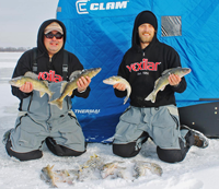image of Justin Bailey and Tom Batuik on Red Lake with Walleyes