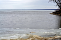 image of ice conditions on Lake Winnibigoshish April 28 2014
