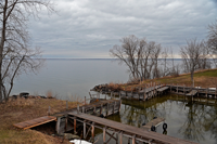 image of open water on Leech Lake