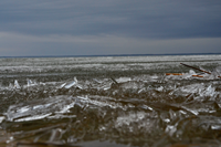image of ice out on Lake Winnibigoshish