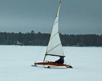 image of ice sail boat
