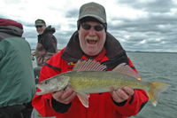 image of Kenny Lashley with a nice Leech Lake Walleye