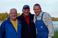 image of 3 fishing buddies