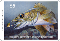 image of Minnesota 2014 Walleye Stamp