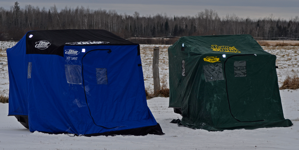 Image gallery otter fish house problem for Ice fishing shelters for sale