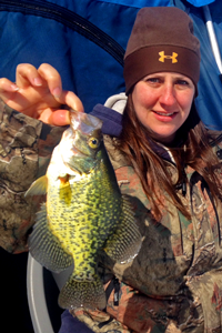 image of Lori Ylitalo with Crappie