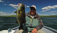 image of Kevin Scott with big Smallmouth Bass