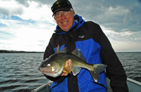 image of Bill Linder holding a Red Lake Walleye