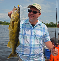 image of big walleye caught during the Daikin Fisharoo by Buddy