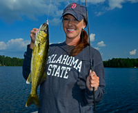 image of Kristin Hastings holding Walleye