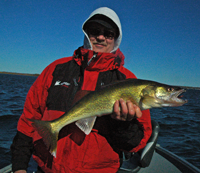 image of Chad Haatvedt with Leech Lake Walleye