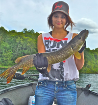image of Amanda Castellano with Northern Pike
