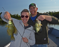 image of Brandon and Abbey Wattson with big crappies
