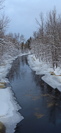 image of ice forming on the deer river