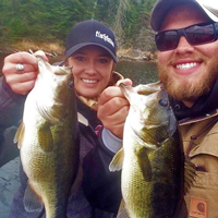 image of Amand Buer and Brett McComas with Largemouth Bass