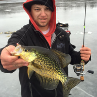 image of Cody Pihlaja with a nice slab Crappie