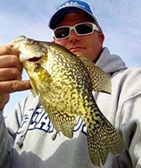 image of Chad Peterson holding Crappie