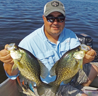 image of Tom Batuik with big crappies