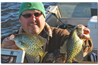 image of dave holmbeck with big Crappies