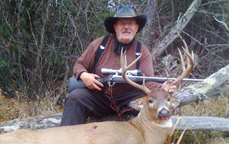 image of Steve Picht with giant buck