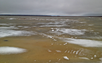 image of White Oak Lake ice conditions
