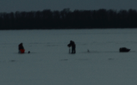 image of ice fishermen on the ice december 8
