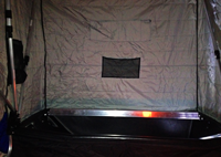 image of portable ice fishing shelter