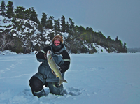 image of Kyle with Lake Trout