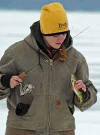image of Annalee Sundin with Jumbo Perch
