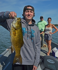 image of James with big Smallmouth Bass