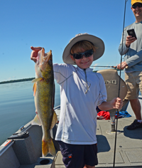 image of Bjorn Snyder holding big Walleye