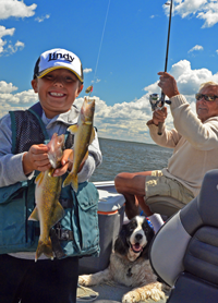 image of zack bodenstab and carl befgquist with walleyes