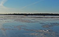 image links to enlargement of ice conditions on leech lake
