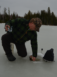 image of Bill Powell ice fishing
