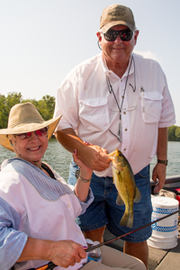 image of sue and jim with nice largemouth