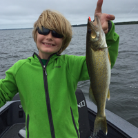 image of bjorn snyder with Walleye