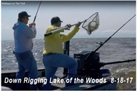 image links to video about dow rigging on lake of the woods