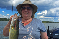 image of Julie Mills with nice walleye
