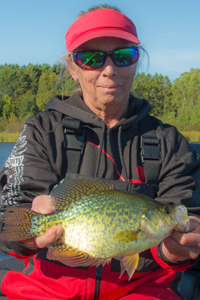 image of big crappie caught on cutfoot sioux