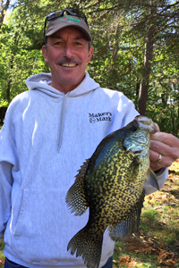image of Tom Ryan with big Cutfoot Crappie