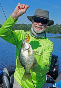 image of greg clusiau with big crappie