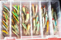 image of fishing lures in tackle box