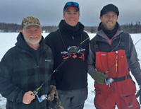 image of justin bailey and greg clusiau hosting fishing trip for james holst